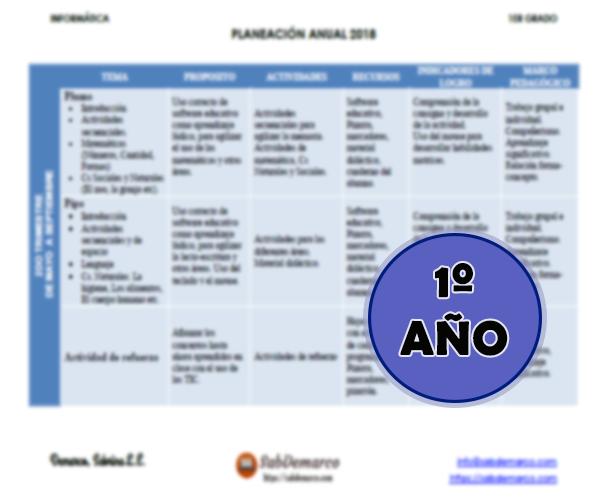 planificaciones de informatica para primaria pdf
