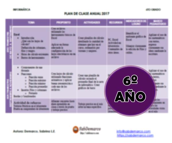 planificaciones de informatica para primaria