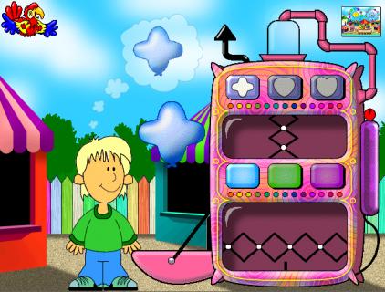 plumo en el parque software educativo para niños