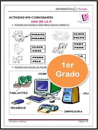 actividades del libro de informatica 1er grado sabdemarco
