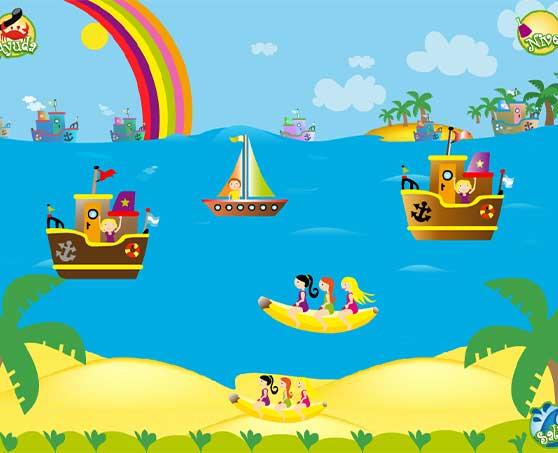 plumo-en-la-playa-barcos