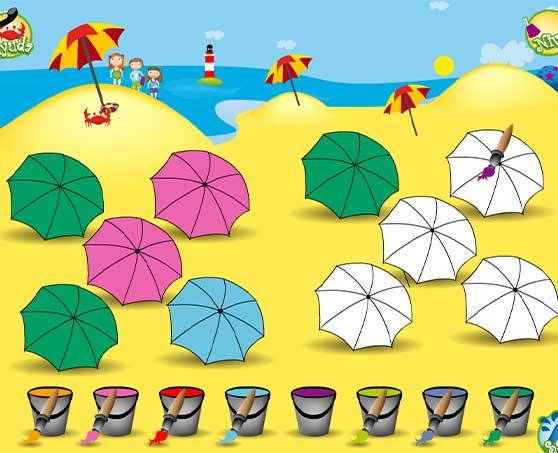 plumo-en-la-playa-paraguas